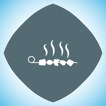 grilled meat: BBQ Grill vector icon. Grilled meat sign. Food party symbol.
