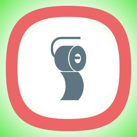 wiping: Toilet paper vector icon. Restroom sign. Bathroom symbol Illustration