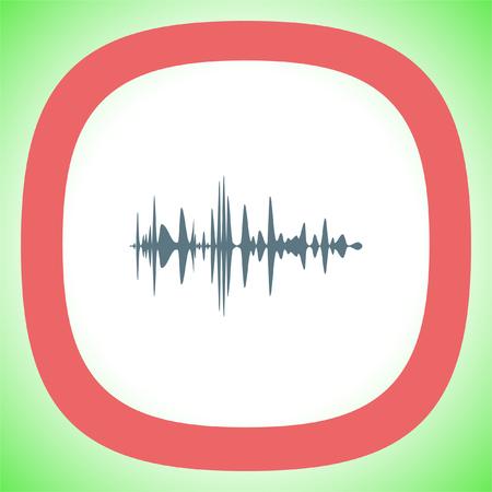 Audio signal vector icon. Sound icon. Music symbol.