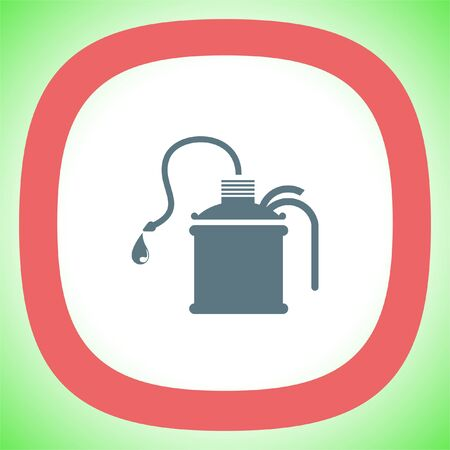 Oil can vector icon. Gas container sign. Petrol fuel symbol Illustration