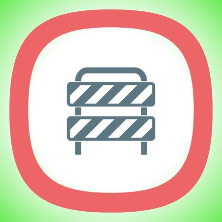 symbol traffic: Traffic barrier vector icon. Road block sign. Safety barricade symbol.