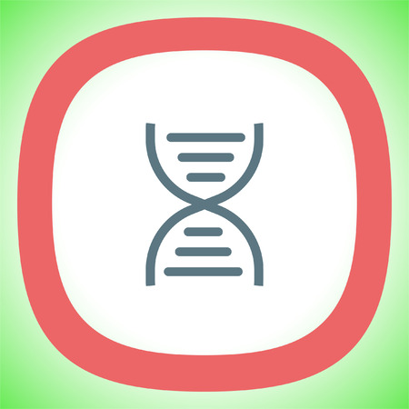 DNA chain sign line vector icon. Genetic structure sign. Biology science symbol.