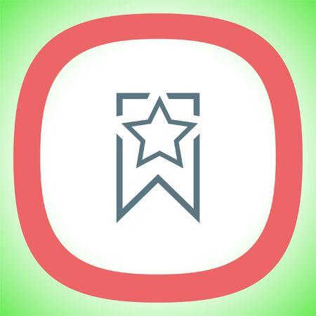 Bookmark sign line vector icon. Illustration
