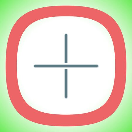 Plus sign line vector icon. Add UI symbol.