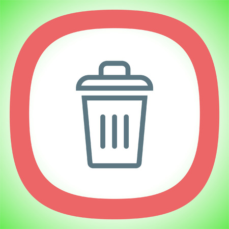 dumpster: Recycle bin vector icon. Basket sign. Garbage symbol Illustration