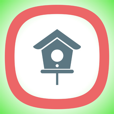 Bird House vector icon. Shelter symbol.