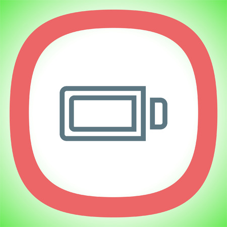 Battery full sign line vector icon. Electrical power sign. Rechargeable energy symbol.