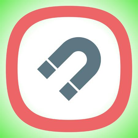magnetismo: Magnete icona segno vettore. segno di potere magnetico. simbolo Fisica.