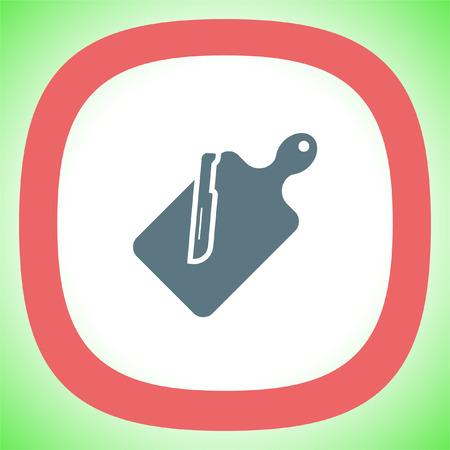 Cutting board vector icon. Kitchen equipment sign. Slicing board symbol
