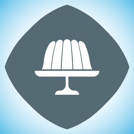jello: Pudding jelly vector icon. Gelatin sign. Sweet jello dessert cake symbol Illustration