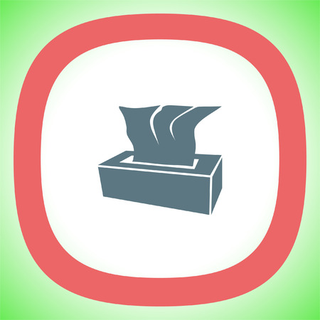 soft tissue: Tissue napkin vector icon. Tissue box sign. Soft hygiene napkins symbol