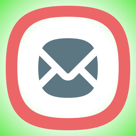 Mail sign vector icon. Envelope icon. Email message sign. Internet letter symbol.