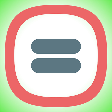 Equal sign vector icon. Equality sign. Mathematical sum symbol