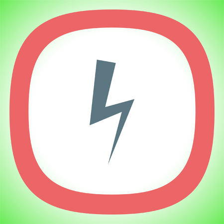 high voltage symbol: Bolt vector icon. Lightning symbol. Electric energy sign. High voltage icon.