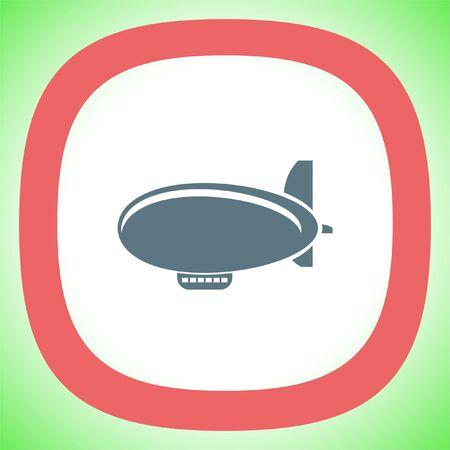 Airship Zeppelin vector icon.  Flight transport symbol. Illustration
