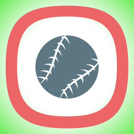 Baseball vector icon. Sport competition sign. American team game symbol.