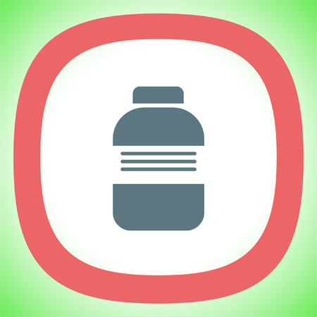 prescription bottles: Medical bottle sign vector icon. Pharmacy bottle sign. Medical drugs symbol. Illustration