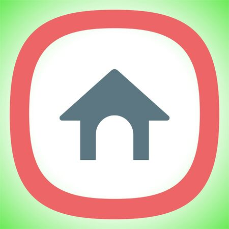 Dog House vector icon. Home sign.