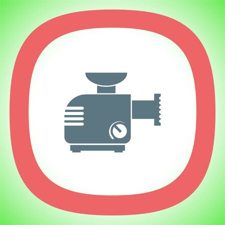 Meat grinder machine vector icon. Manual mincer sign. Butcher tool symbol