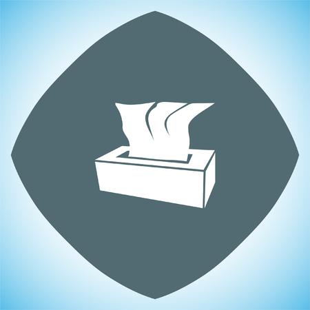 napkins: Tissue napkin vector icon. Tissue box sign. Soft hygiene napkins symbol