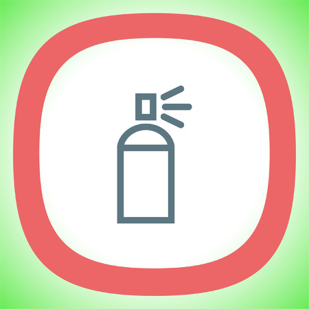 Spray can sign line vector icon. Deodorant symbol. Paint UI control sign.