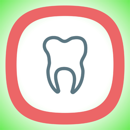 dent: Tooth vector icon. Dentist sign. Dentistry symbol
