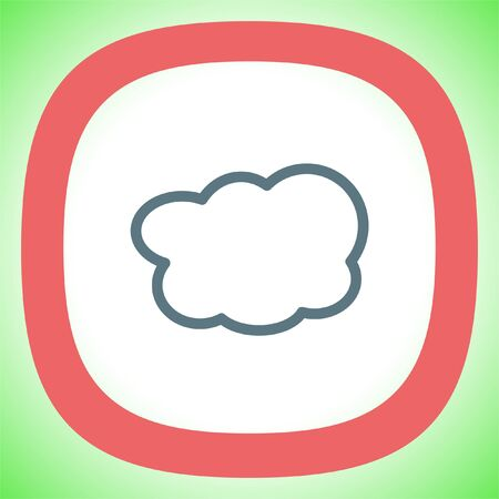 art processing: Cloud sign line vector icon. On line computing symbol. Cloud on line storage pictograph.