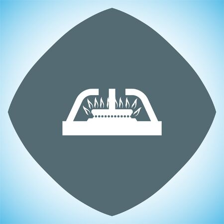 methane: Gas stove vector icon. Stove sign. Cooker symbol