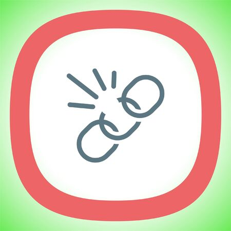 Unlink sign line vector icon. Broken chain vector icon.