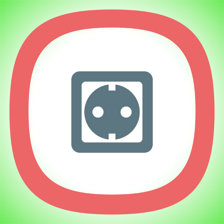 electric outlet: Power socket vector icon. Electric outlet sign. Power plug symbol Illustration