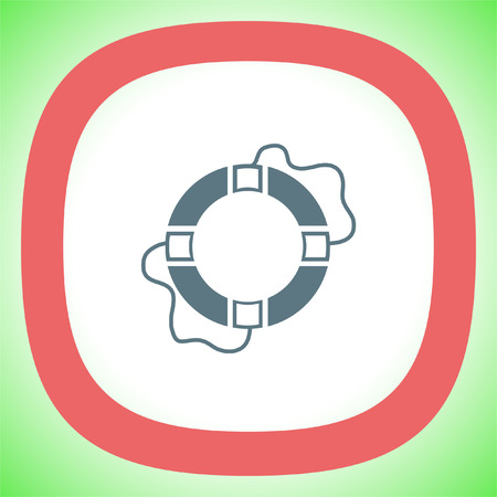 Lifebuoy vector icon. Lifebelt sign. Safety floating belt symbol