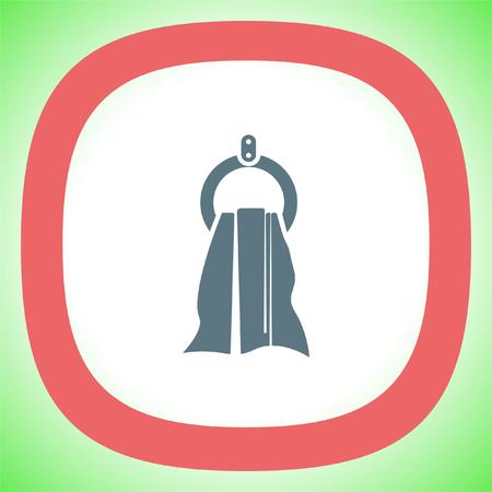 wipe: Towel vector icon. Hygiene sign. Shower symbol Illustration