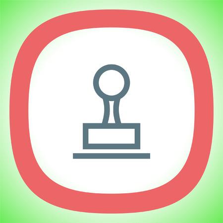 Stamp sign line vector icon. Cachet symbol. Signet icon. Illustration