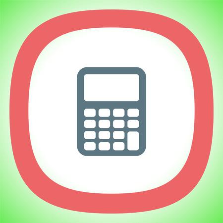 Calculator vector icon. Mathematics sign. Office finance calculating item symbol.