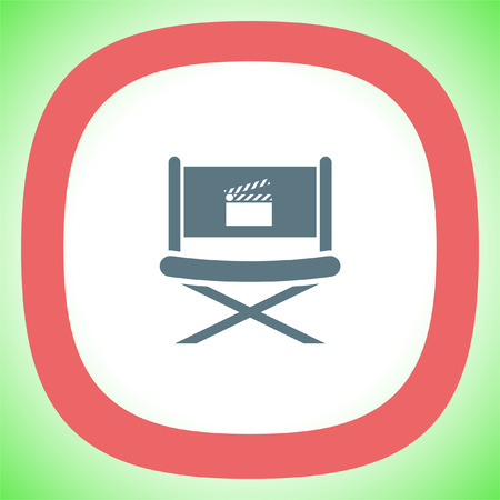 Cinema Director Chair vector icon. Movie director seat. Video symbol. Illustration