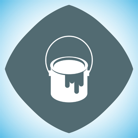 paint bucket: Paint bucket sign vector icon. Color symbol icon. Illustration