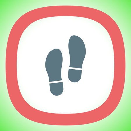 trail sign: Footprint vector icon. Trail sign. Illustration