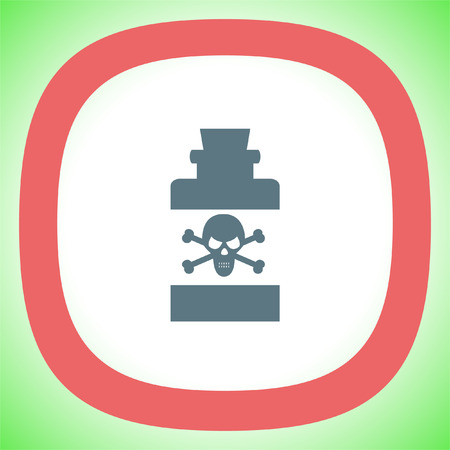 toxic: Bottle with Poison vector icon. Warning sign. Toxic danger symbol. Illustration