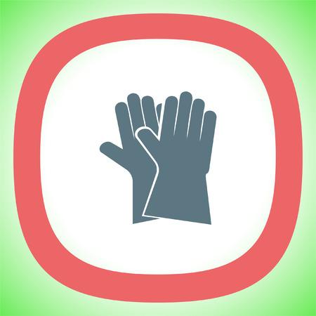 Garden gloves vector icon. Backyard equipment sign. Safety tool symbol