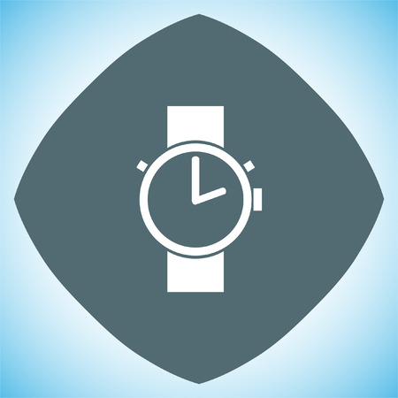 wrists: Hand watch vector icon. Wristwatch sign. Time shower symbol Illustration