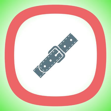 Strap vector icon. Belt sign. Leather belt symbol