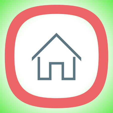 Home sign line vector icon. House building sign. Real-estate property symbol. Illustration
