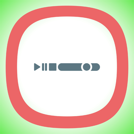 Progress bar vector icon. Play pause stop and record button sign. Music symbol Illustration