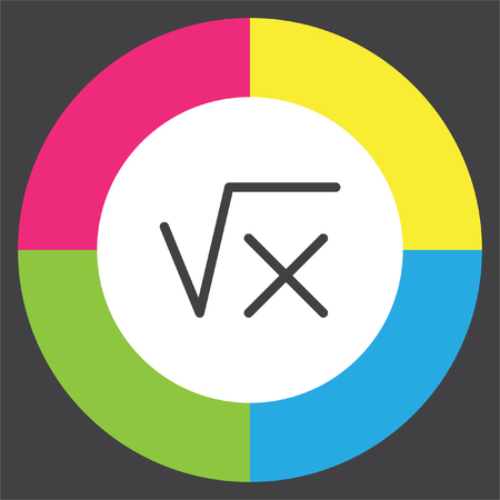 Square root sign line vector icon. Calculator symbol. Math sign icon.