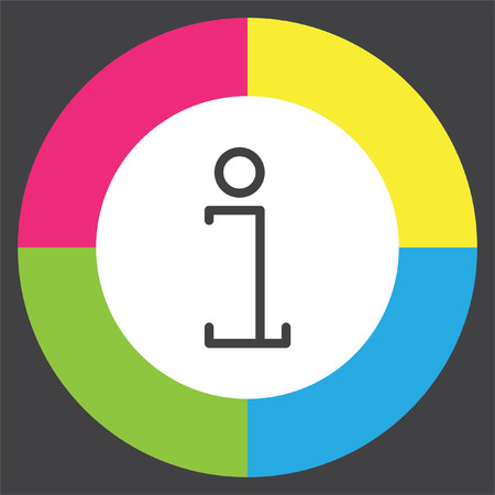 inform information: Info line vector icon. Information symbol. Support pictograph.