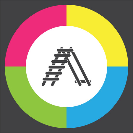 Ladder vector icon. Steps sign. Construction tool symbol