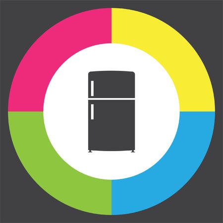 Refrigerator vector icon. Fridge sign