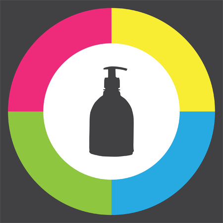 Household Cleaning Bottle vector icon. Liquid soap sign. Hand cleaning symbol Illustration
