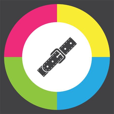buckles: Strap vector icon. Belt sign. Leather belt symbol