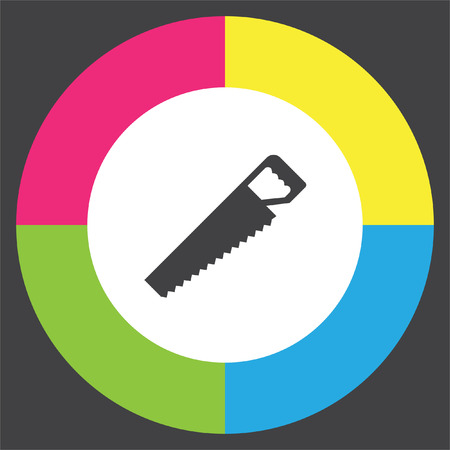 Handsaw vector icon. Hacksaw sign. Wood cutting symbol